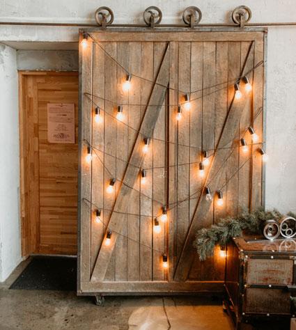 puerta de granero rustica