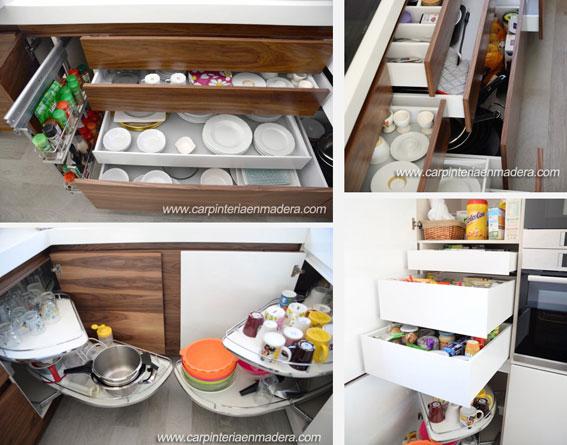 El orden perfecto en las cocinas a medida