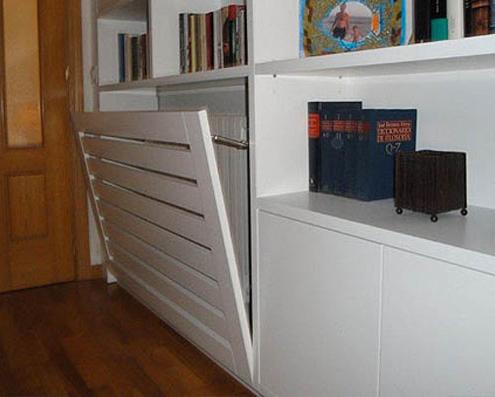 Muebles de salón a medida, cubreradiador