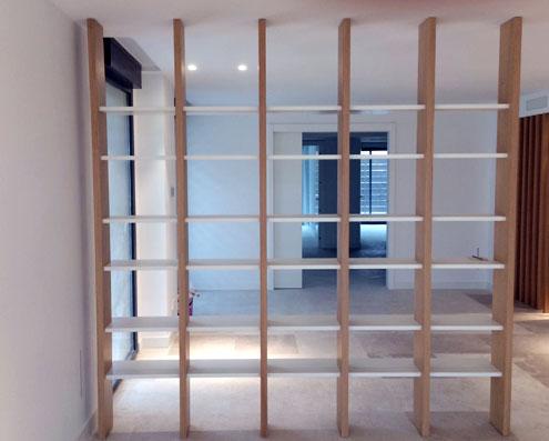 estanterias separacion de espacios