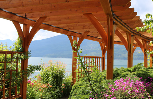 jardin de madera