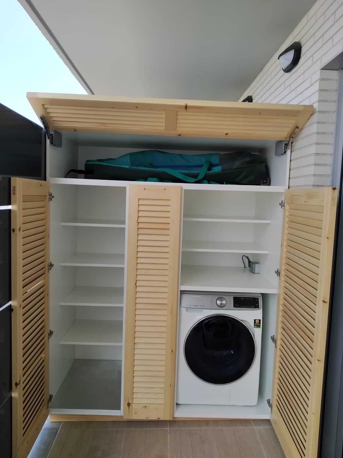 Mueble de lavadero a medida - Alpis, carpintería en madera