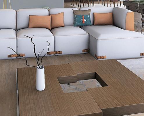 Mesa personalizada para salón